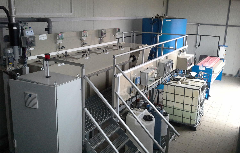 Bild på anläggning, Waste Water Treatment line