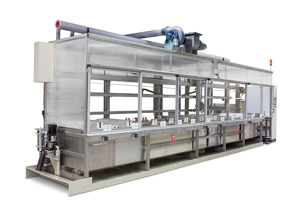 Bild på anläggning, Surface treatment line automatic transporter